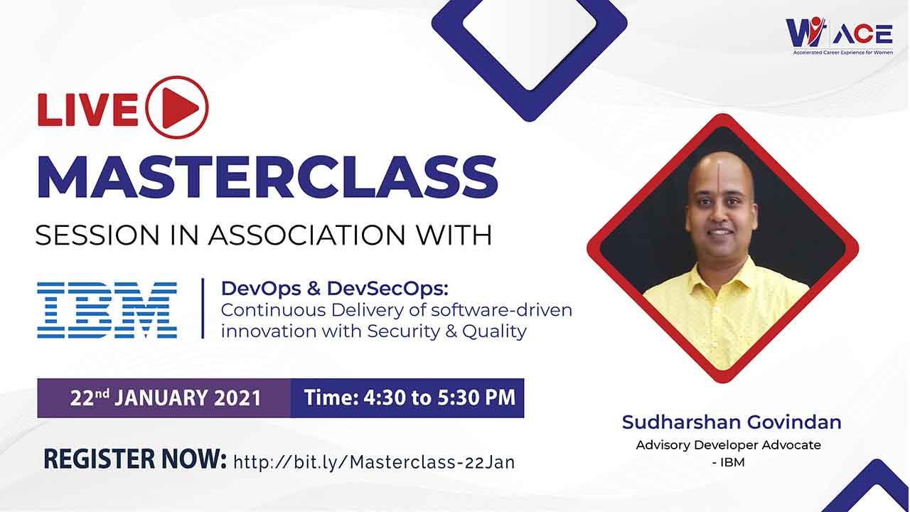 Masterclass session on DevOps & DevSecOps by Sudharshan Govindan