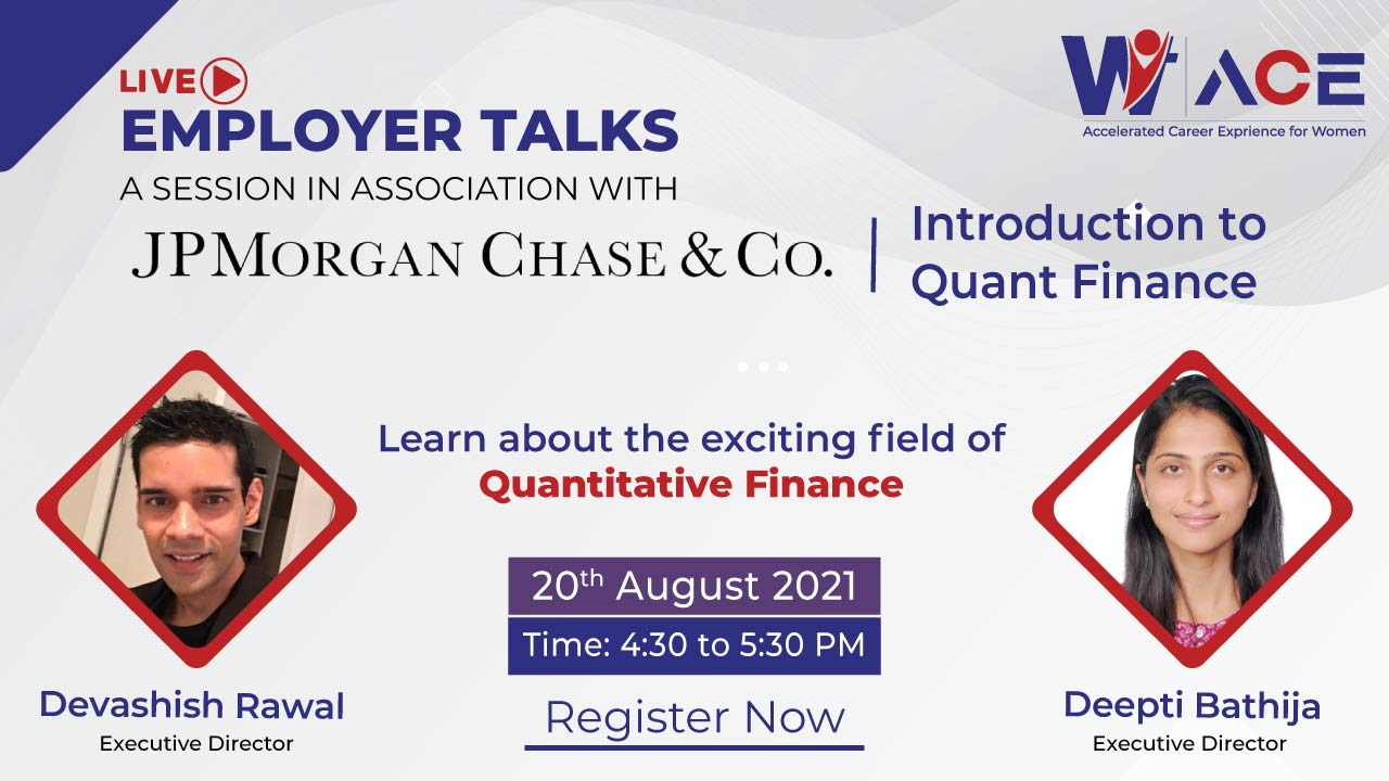 Employer Talks with JPMorgan on 'Introduction to Quant Finance'