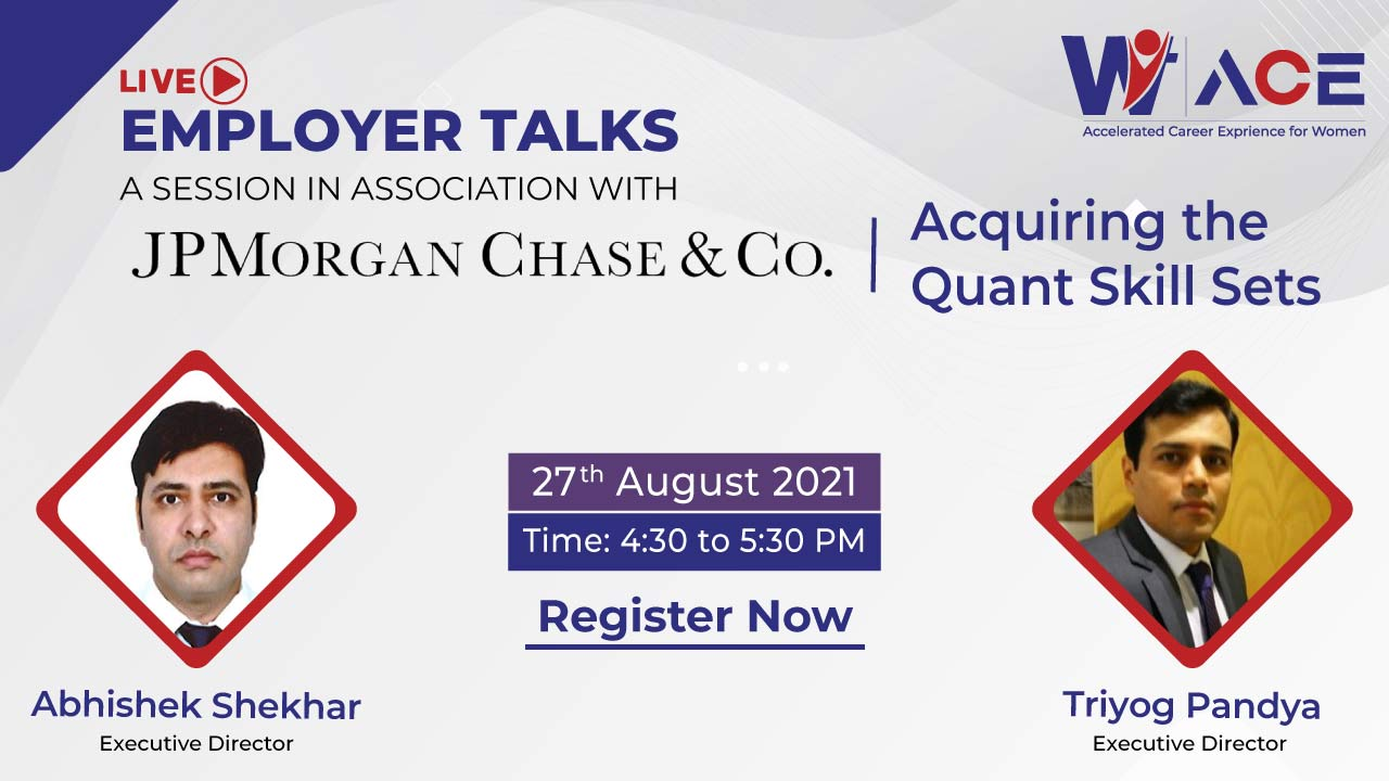 Employer Talks with JPMorgan on Acquiring the Quant Skill Sets