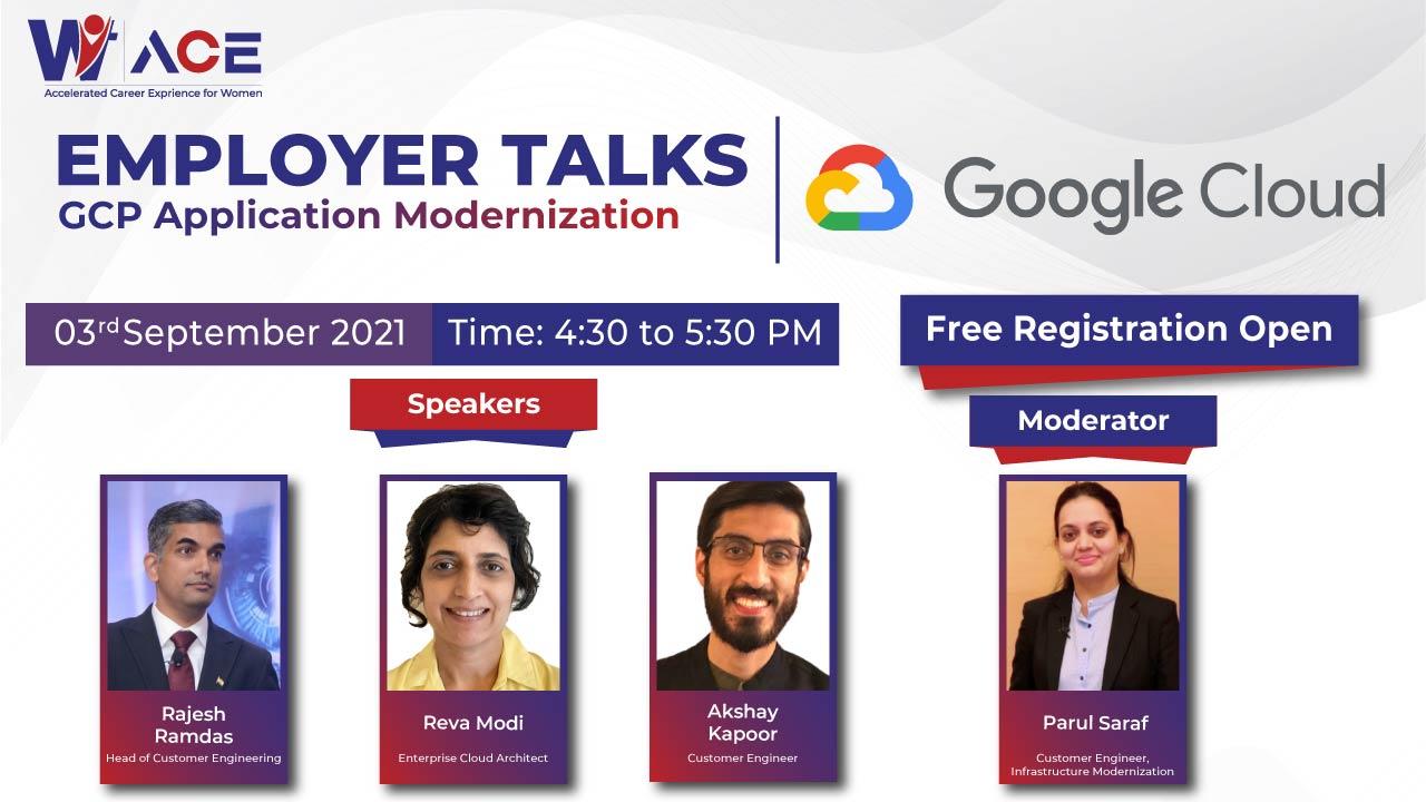 "Employer Talks with Google Cloud on ""GCP Application Modernization"""